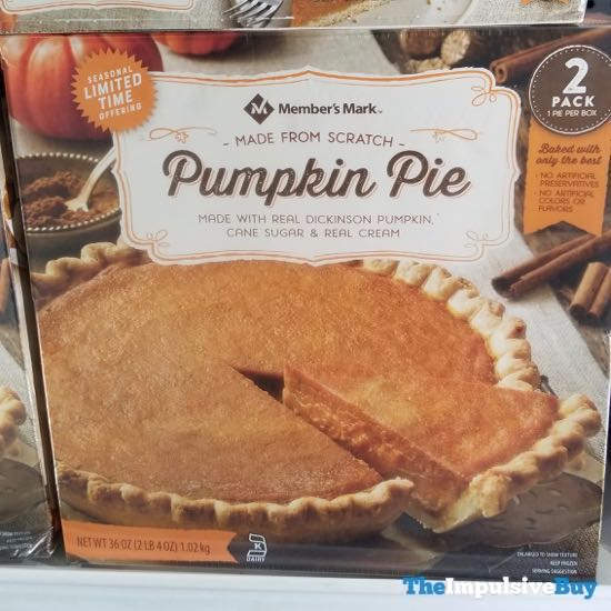 Member s Mark Limited Time Pumpkin Pie