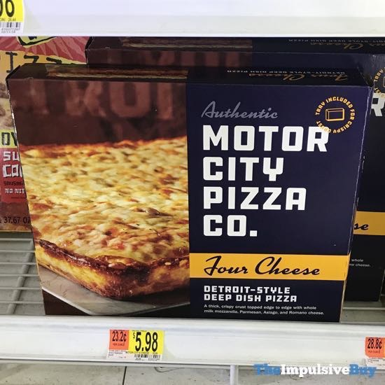 Motor City Pizza Co Four Cheese Detroit Style Deep Dish Pizza