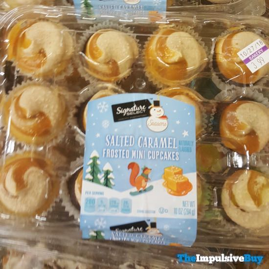 Safeway Signature Select Seasons Salted Caramel Frosted Mini Cupcakes