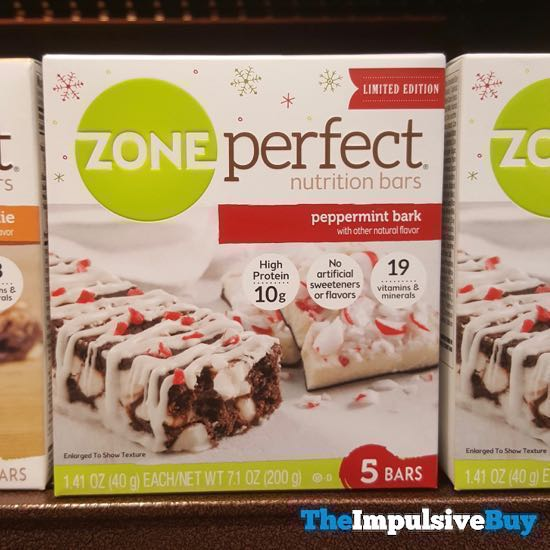 Zone Perfect Limited Edition Peppermint Bark Nutrition Bars