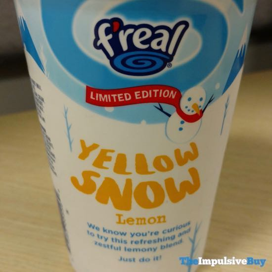 F real Limited Edition Yellow Snow 2