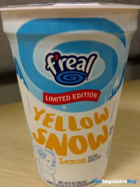F real Limited Edition Yellow Snow