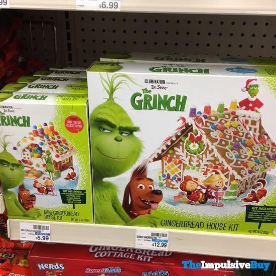 Dr Seuss The Grinch Mini Gingerbread House Kit And Gingerbread House Kit