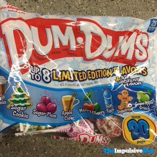Dum Dums Holiday Limited Edition Flavor + The Mystery Flavor