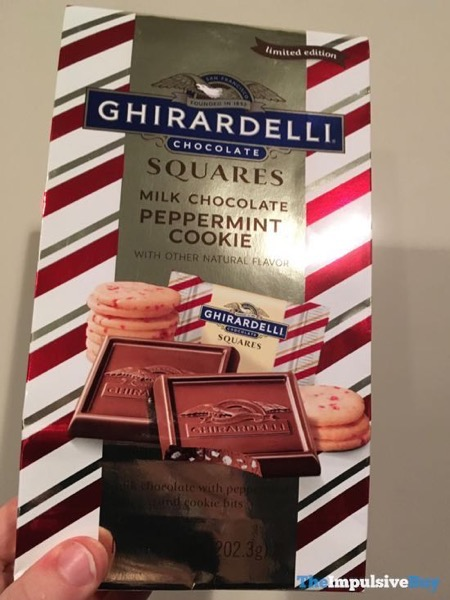 Ghirardelli Limited Edition Milk Chocolate Peppermint Cookie Squares