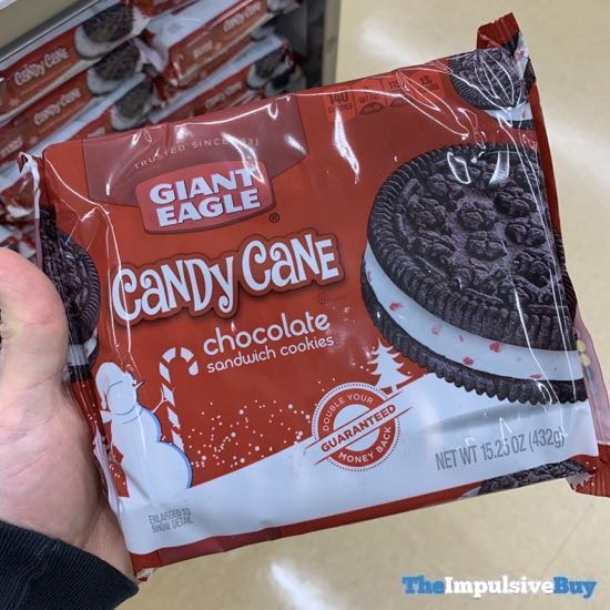 Giant Eagle Candy Cane Chocolate Sandwich Cookies