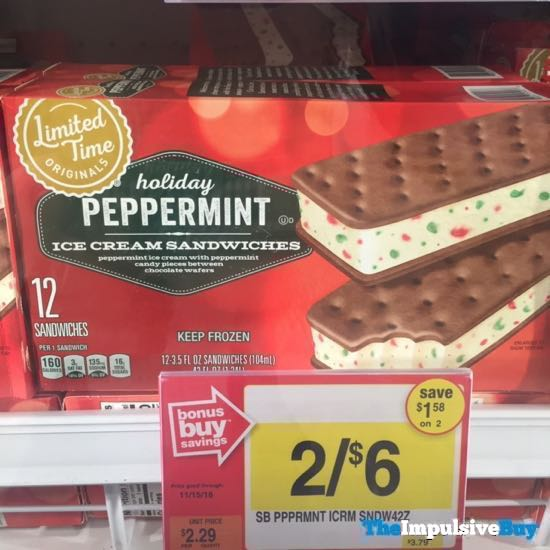Giant Limited Time Originals Peppermint Ice Cream Sandwiches