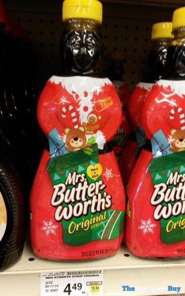 Mrs Butterworth s 2018 Holiday Edition Bottle