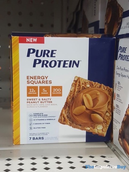 Pure Protein Sweet  Salty Peanut Butter Energy Squares