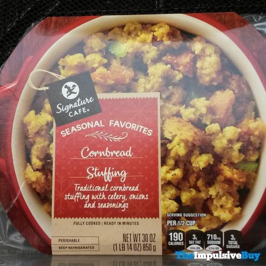 Safeway Signature Cafe Seasonal Favorites Cornbread Stuffing