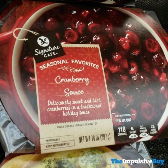 Safeway Signature Cafe Seasonal Favorites Cranberry Sauce