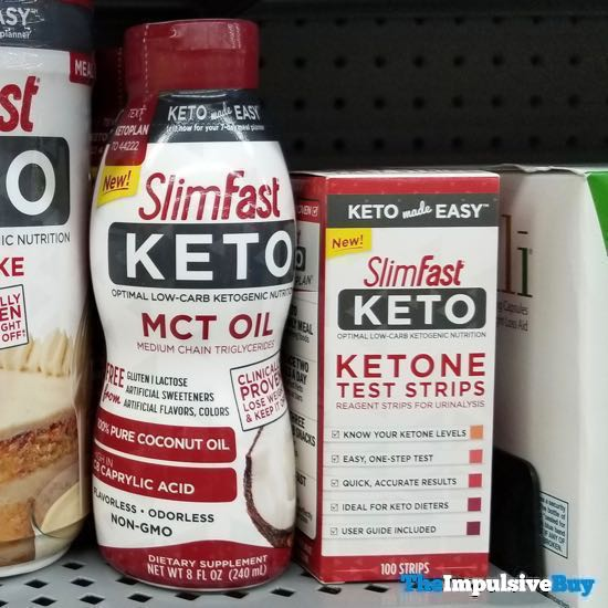 SlimFast Keto MCT Oil or Ketone Test Strips