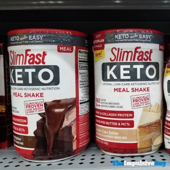 SlimFast Keto Meal Shake  Brownie Batter and Vanilla Cake Batter