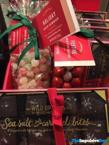 Starbucks Holiday Sour Gummies and Festive Milk Chocolates