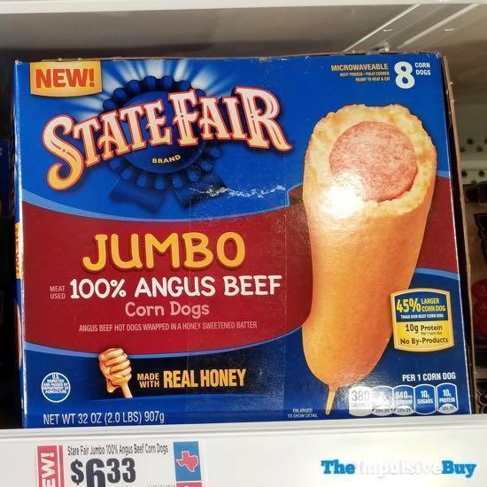 State Fair Brand Jumbo 100 Angus Beef Corn Dogs