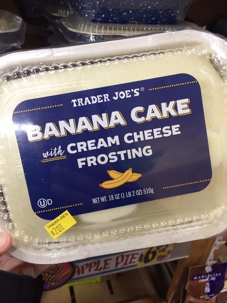 Trader Joe s Banana Cake with Cream Cheese Frosting