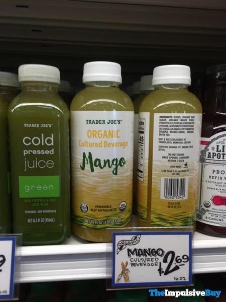 Trader Joe s Organic Cultured Beverage Mango