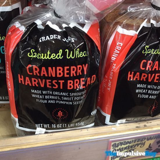 Trader Joe s Sprouted Wheat Cranberry Harvest Bread