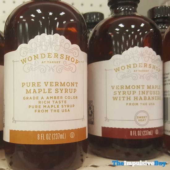 Wondershop at Target Pure Vermont Maple Syrup and Vermont Maple Syrup Infused with Habanero