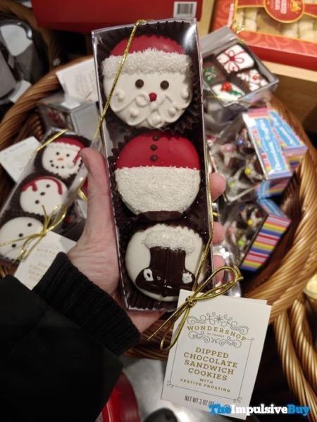 Wondershop at Target Santa Dipped Chocolate Sandwich Cookies with Festive Frosting