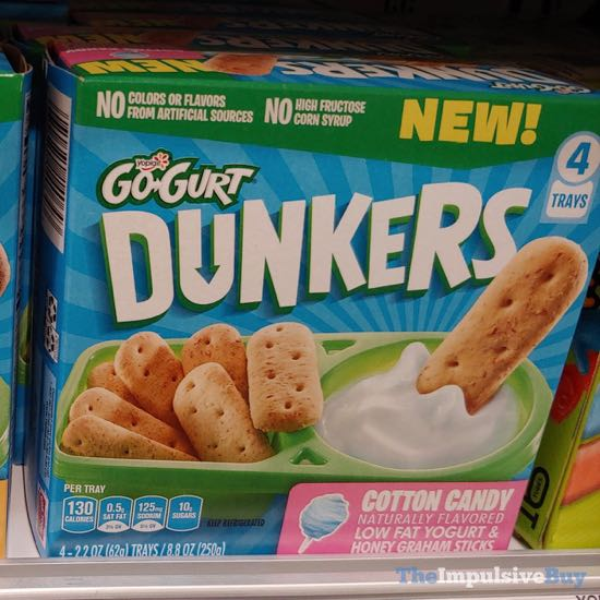 Yoplait Go Gurt Dunkers Cotton Candy