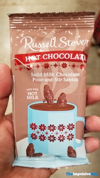 Russell Stover Hot Chocolate Soild Milk Chocolate Pour and Stir Santas