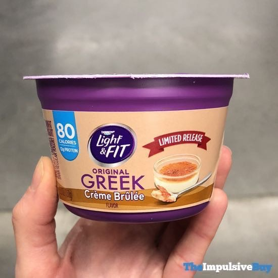Dannon Light  Fit Limited Release Original Greek Creme Brulee