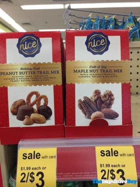 Walgreens Nice Holiday Fuel Peanut Butter Trail Mix and Full of Joy Maple Nut Trail Mix