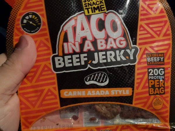 Super Snack Time Taco in a Bag Beef Jerky Carne Asada Style