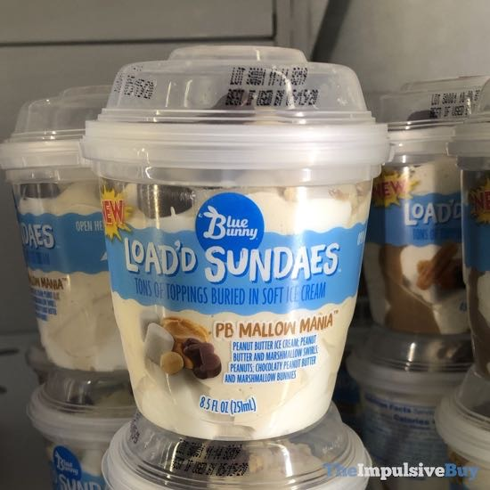 Blue Bunny Load'd Sundaes PB Mallow Mania