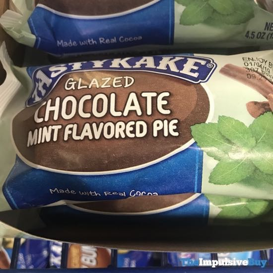 Tastykake Glazed Chocolate Mint Flavored Pie
