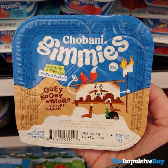 Chobani Gimmies Ooey Gooey S more Yogurt Crunch