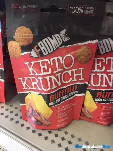 FBomb Keto Krunch Buffalo High Fat Cheese Crisps