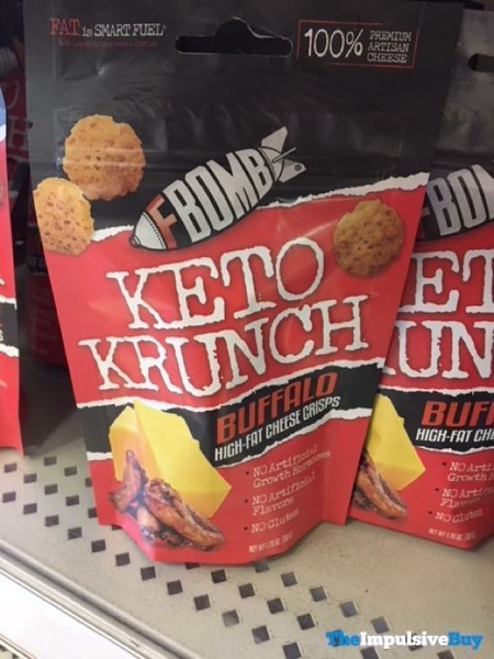 FBomb Keto Krunch Buffalo High Fat Cheese Crisps