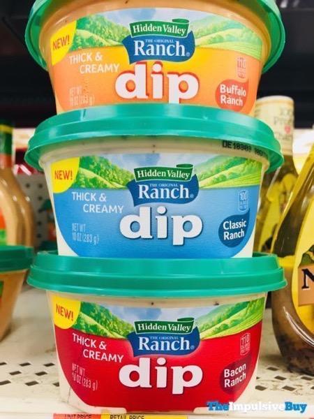 Hidden Valley Thick  Creamy Dip  Buffalo Ranch Classic Ranch and Bacon Ranch