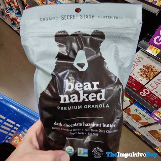 Secret Stash Bear Naked Dark Chocolate Hazelnut Butter Granola