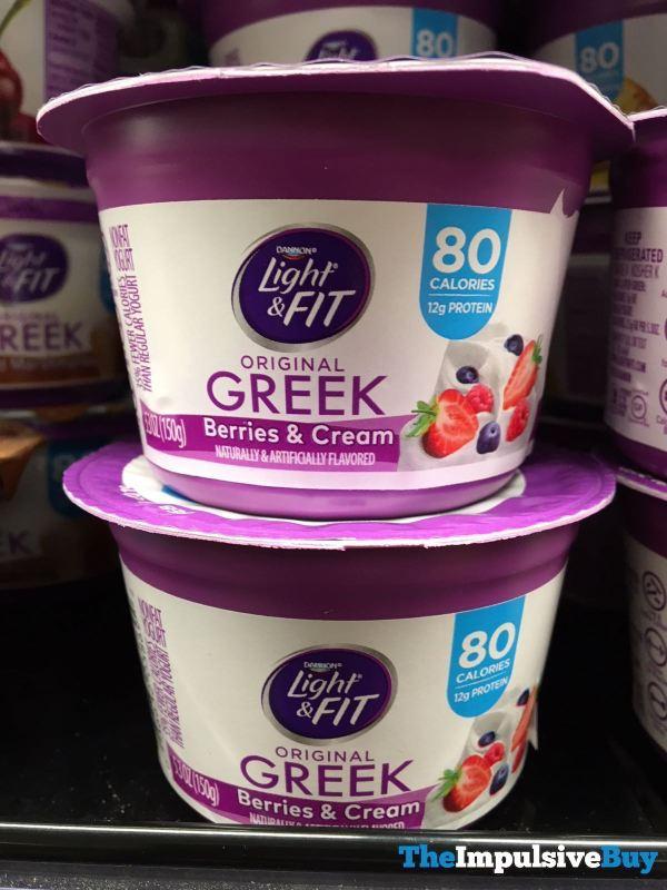 Dannon Light  Fit Berries  Cream Original Greek
