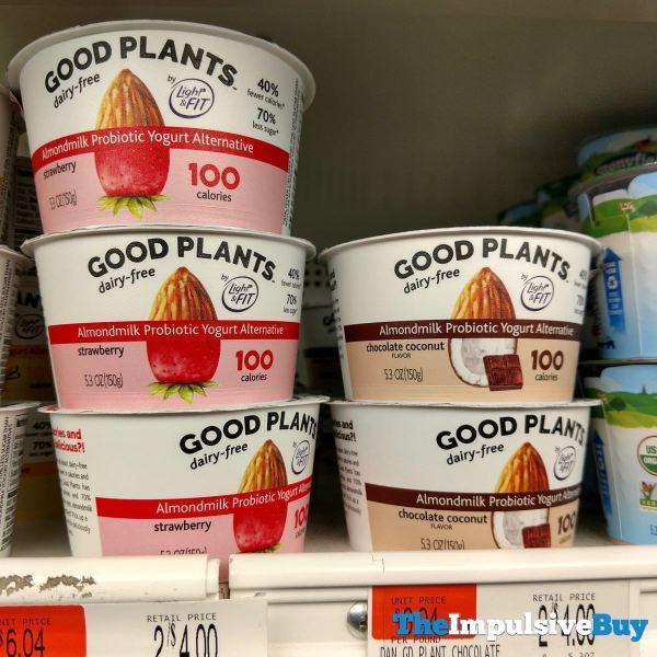 Good Plants Almondmilk Probiotic Yogurt Alternative  Strawberry and Chocolate Coconut