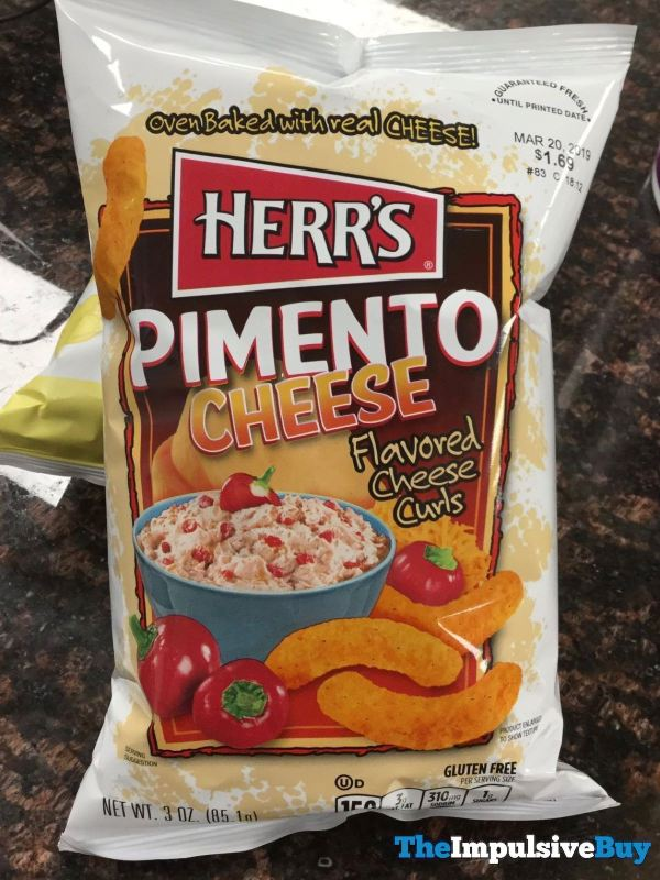 Herr s Pimento Cheese Flavored Cheese Curls