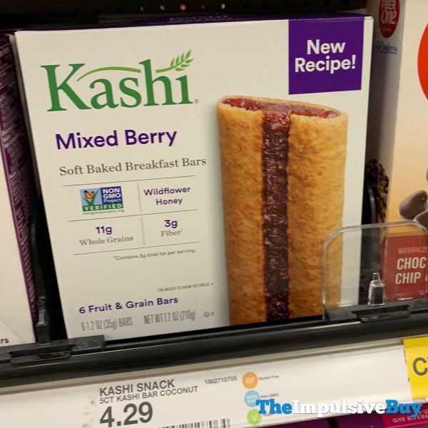 Kashi Mixed Berry Soft Baked Breakfast Bars New Recipe