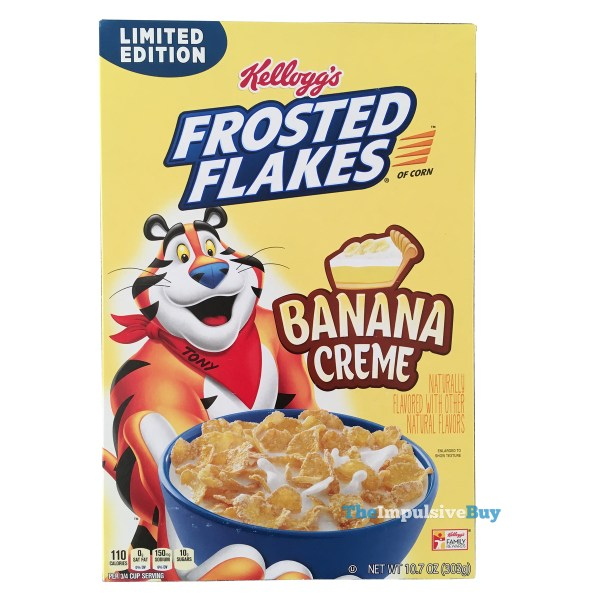Kellogg s Limited Edition Banana Creme Frosted Flakes