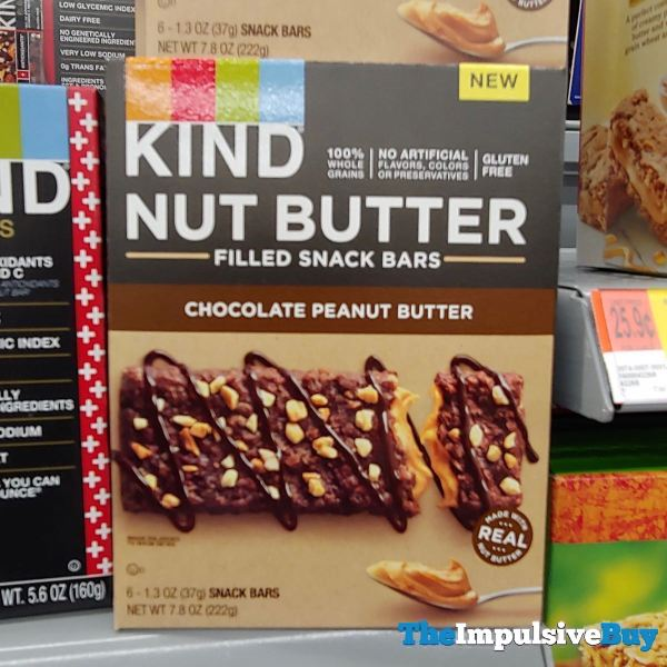 Kind Chocolate Peanut Butter Nut Butter Filled Snack Bars
