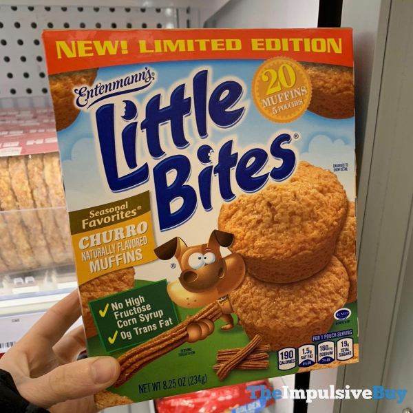 Limited Edition Entenmann s Little Bites Churro Muffins