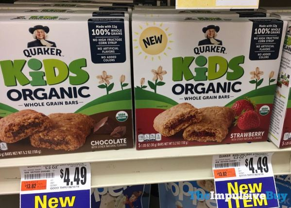 Quaker Kids Organic Whole Grain Bars  Chocolate  Strawberry