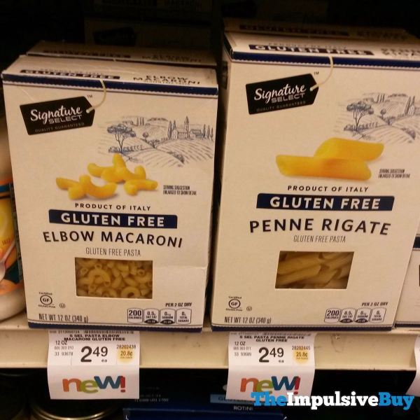 Safeway Signature Select Gluten Free Elbow Macaroni and Penne Rigate