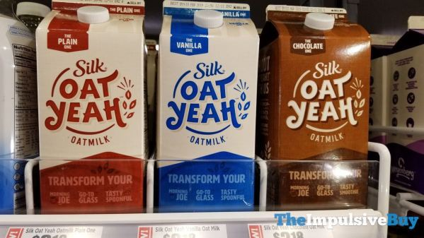 Silk Oat Yeah Oatmilk  Plain Vanilla and Chocolate
