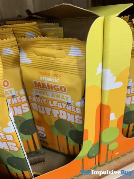 Trader Joe s Mango Peel Away Fruit Leather Buttons