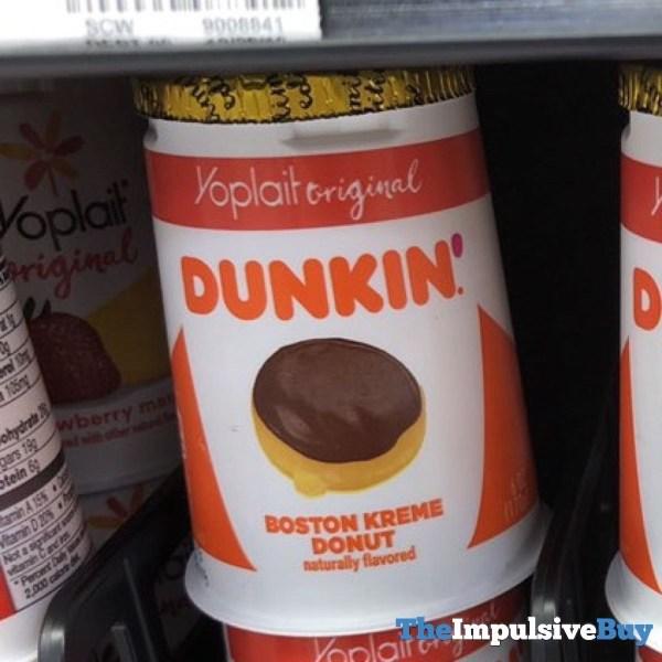 Yoplait Original Dunkin Boston Kreme Donut Yogurt