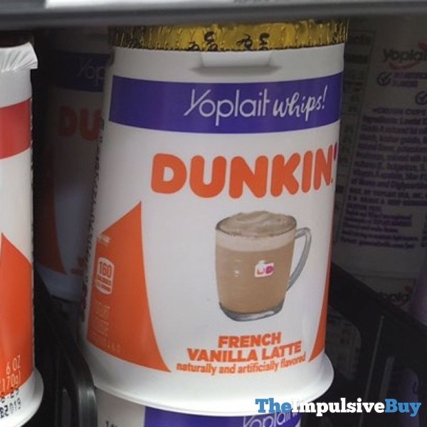 Yoplait Whips Dunkin French Vanilla Latte Yogurt