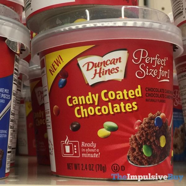 Duncan Hines Perfect Size for 1 Candy Coated Chocolates Chocolate Cake Mix